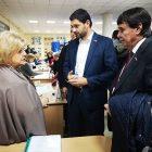Сергей Цеков и Андрей Козенко наблюдают за ходом выборов в Донецкой народной республике
